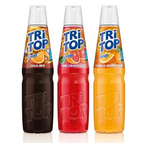 TRi TOP Sirup 3er-Set - Orange-Mandarine/Orange-Cola Mix/Pink Grapefruit